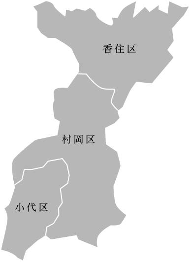香美町の地図