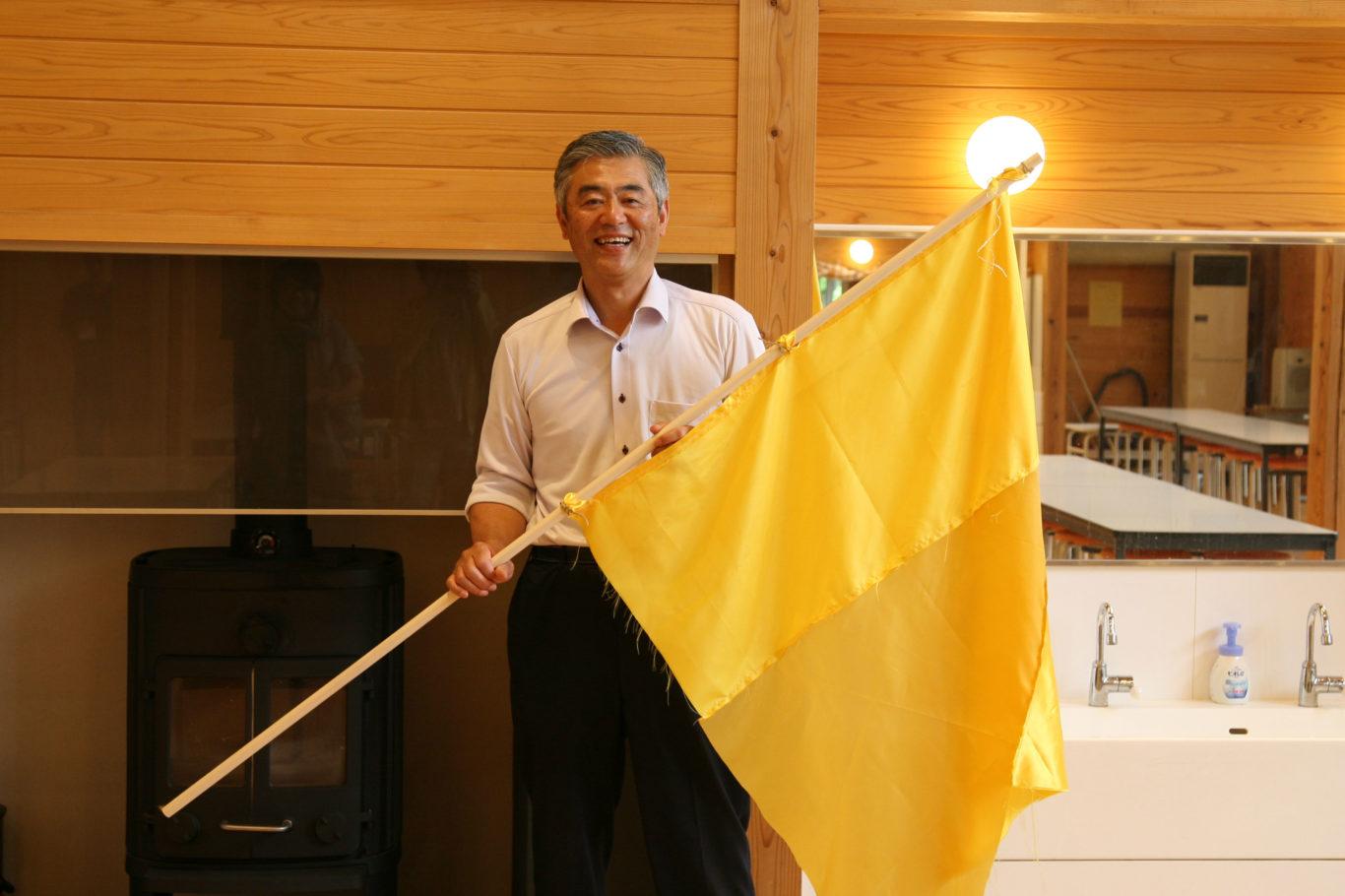 村岡小学校校長 石井先生