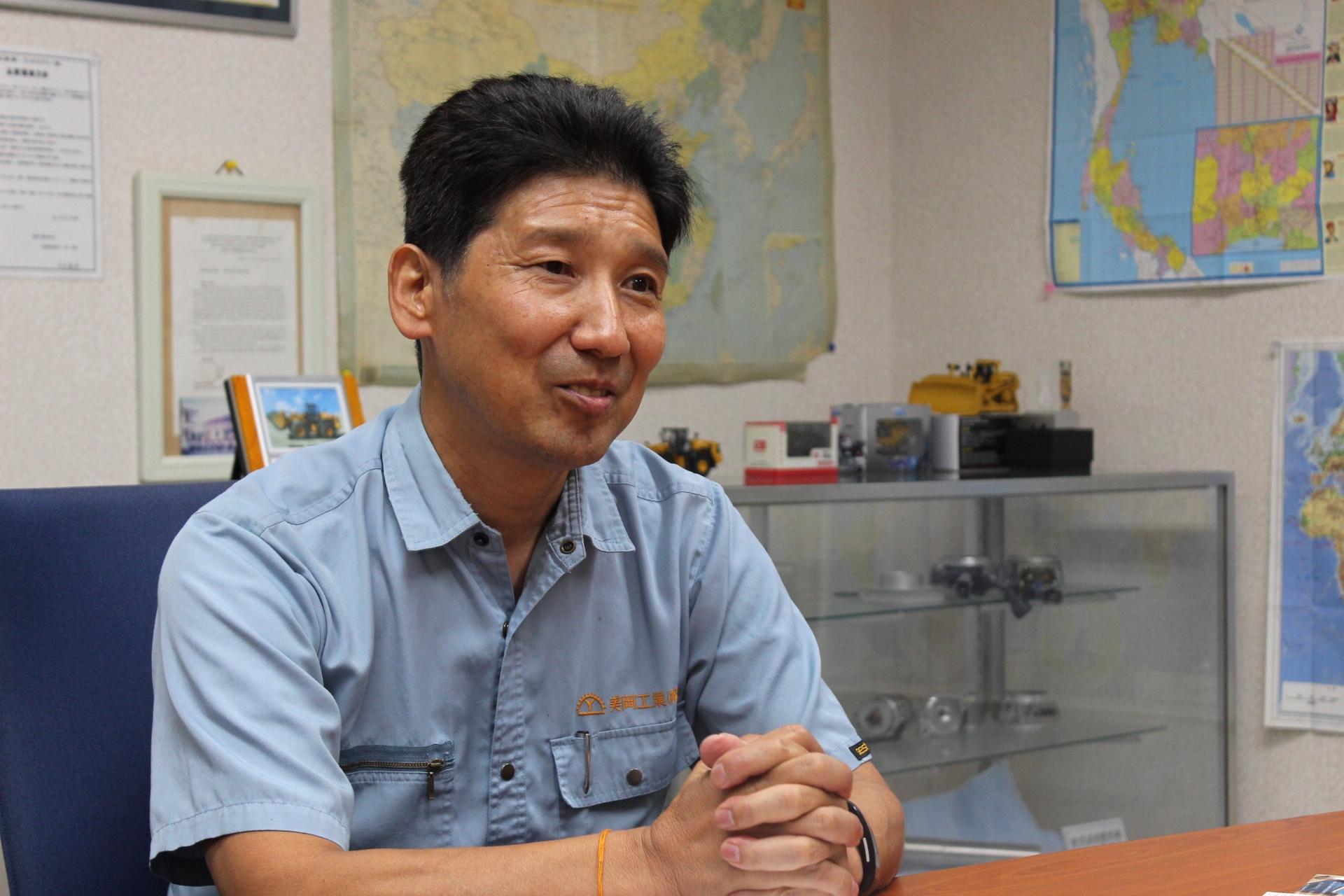 美岡工業株式会社代表取締役竹内さん