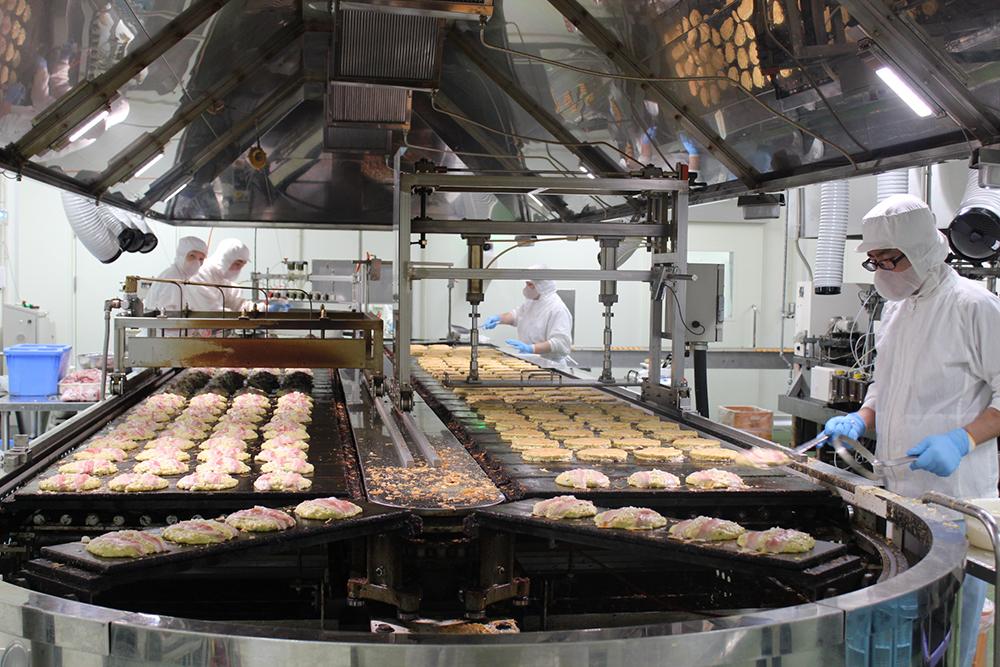 独自の冷凍食品を作り出し、全国へ出荷する製造会社